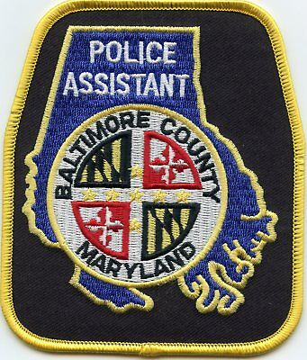 BALTIMORE COUNTY MARYLAND MD Police Assistant POLICE PATCH