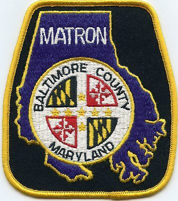 Baltimore County Maryland Md Matron Police Patch
