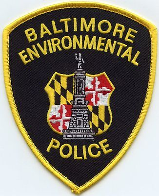 Baltimore Maryland Md Environmental Police Patch