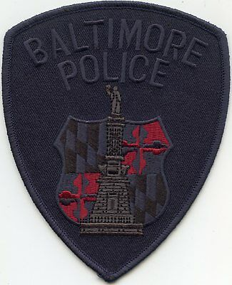 BALTIMORE MARYLAND MD subdued TACTICAL POLICE PATCH