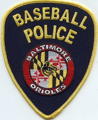 Baltimore Orioles Baseball Police Maryland Md Novelty Police Patch