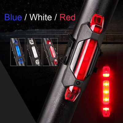 Cycling 5 LED USB Rechargeable Bike Lamp Bicycle Tail Warning Light Rear Safety