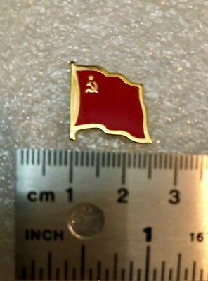 Cccp  Soviet Flag  Sickle & Hammer  Hat Pin Badge Ussr /  Russian