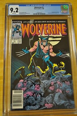 Wolverine #1 Cgc 9.2 Nm  White Pages 1989 1St Solo Title X-Men John Buscema Art
