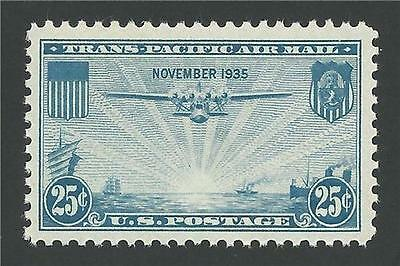 1935 TransPacific China Clipper Over Pacific Pan Am Airlines Air Mail Stamp MINT