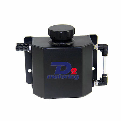 Universal 1L Coolant Radiator Overflow Recovery Water Tank Polished