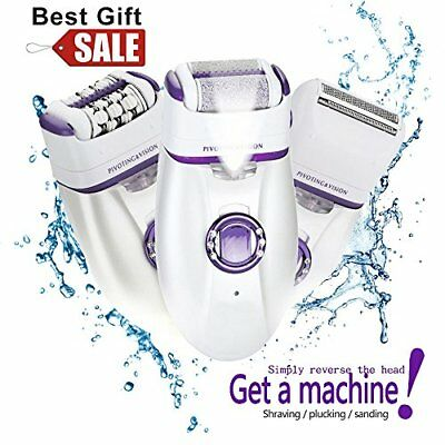 3 In 1 Shaving Machine For Women Electric Epilator Callus Hair Removal Shaver US