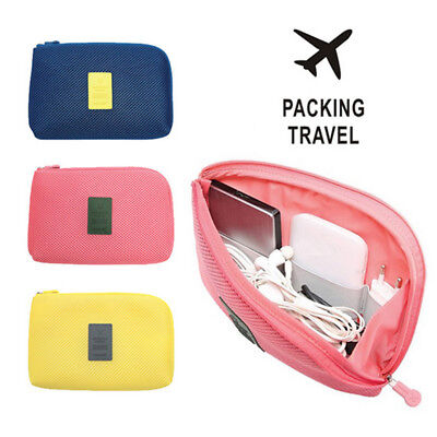 Electronic Accessories Cable USB Drive Organizer Bag Case Portable PB