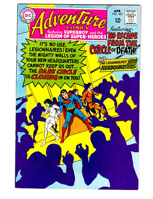 ADVENTURE COMICS #367 in VF a 1965 Silver Age DC comic  SUPERBOY & LEGION LSH