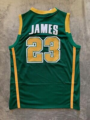 ad6347b3bfe NWT LEBRON JAMES #23 St. Vincent St. Mary High School Jersey ...