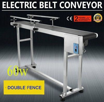 PVC Belt Electric Conveyor Machine With Stainless Steel Double Guardrail Pro ED