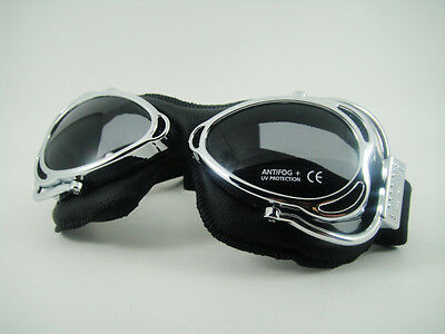 NEW CLIMAX 500 GOGGLES VINTAGE Classic Motorcycle Cafe Racer Rider TT Isle Man