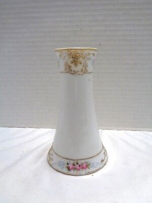 Antique Nippon Porcelain Moriage Handpainted Hat Pin Holder Embossed Beading