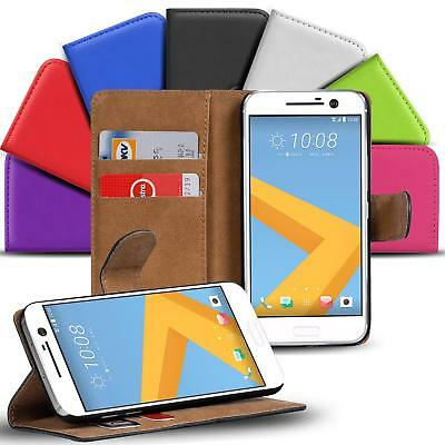 Case Cover For HTC 10 Magnetic Flip PU Leather Wallet Holder Shell Bag