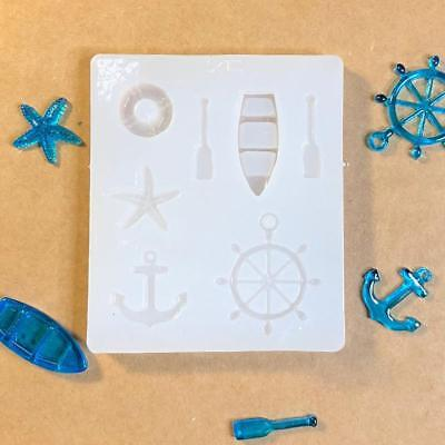 Resin Craft Jewelry Liquid Silicone Mold Sea Style Boat Rudder Anchor DIY Mould