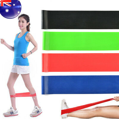 Set(4) Heavy Duty Resistance Band Loop Power GYM Fitness Exercise Workout Yoga