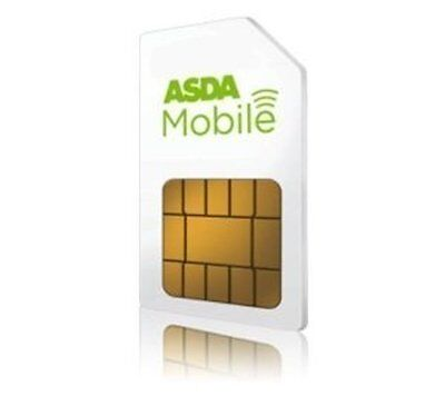 NEW ASDA MOBILE PAYG TRIPLE 3 IN 1 SIM CARD 8p CALLS 4p TEXT UP TO 12GB DATA !