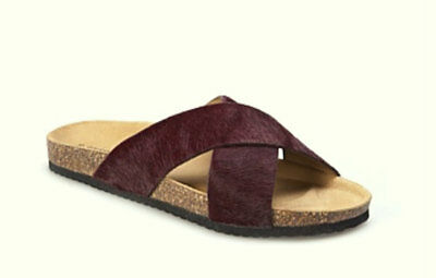 Country Road New Leather Sandal Sz 39 BNWT$99 Hair On Cork Footbed Made In Italy