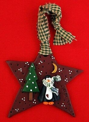 Penguin Star Tree Ornament Resin Collectible Decor Adorable NEW Christmas