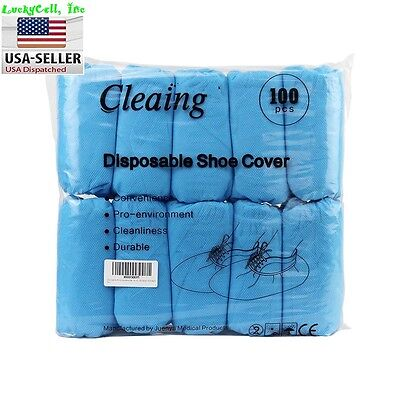 100 Disposable Boot & Shoe Covers Non-Slip / Medical / Extra Large Up To Size 13