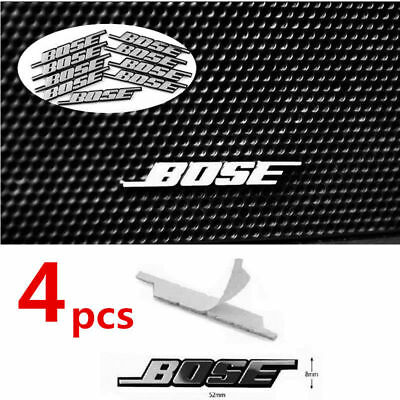 4x BOSE Car Audio Speaker 3D Aluminum Badge Emblem Sticker