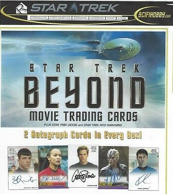 Star Trek Beyond Movie Trading Cards Sealed Box, 24 Packs, Plus Promo Card