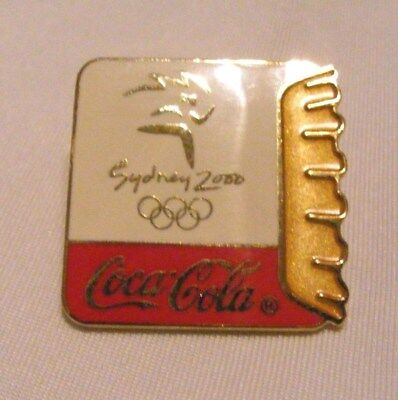 Olympic Pin  Sydney 2000 Coca Cola     Gold Top