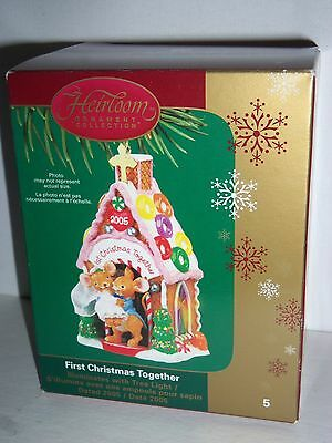 Carlton Cards First Christmas Together Illuminated Gingerbread House 2005