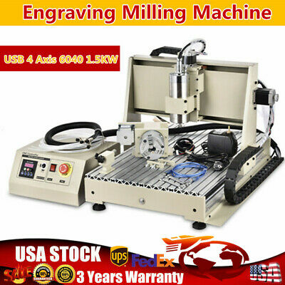 CNC6040Z-USB-4AXIS Engraver Router Metal Drilling Machine1.5KW VFD Water-cooling