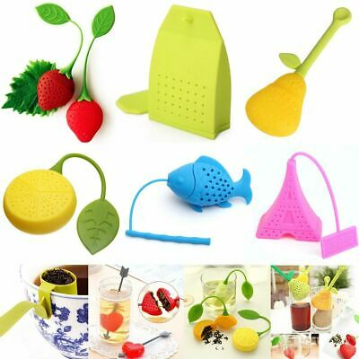 Tea Infuser Strainer Silicone Loose Leaf Herbal Tea Filter Odourless Reusable