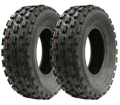 Pair of Slasher quad tyres, 21x7.00-10 Wanda Race tyre E marked tyres 21 7 10