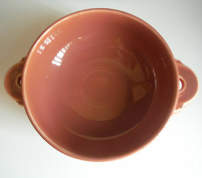 Homer Laughlin / FIESTA / Vintage Cream Soup Bowl / Rose