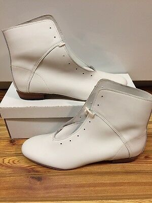 High Country, Size 9.5M WOMENS Clogging Tap Dance boots, Shoes, (no Taps) WHITE