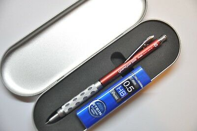 Pentel GraphGear 1000 0.5mm Mechanical Pencil Red Barrel with HB Refill Lead