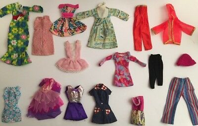Vintage 1980's - 2000's Lot of Barbie Doll Clothing Dresses, Shirts, Pants ++