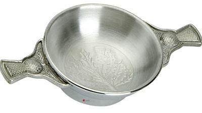 Coldstream Guards Quaich Scottish Drinking Bowl Pewter Stainless Steel BGK13