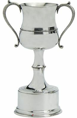 Pewter Sporting Trophy 6inch Polished Beaded Style Football, Rugby