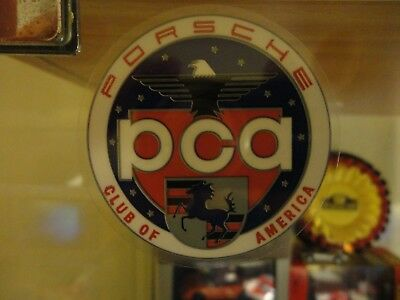 "Porsche PCA Car Club of America Window Sticker Decal Round  2.25"" Diameter"