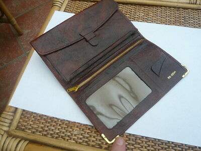 Good Quality Vintage Old 1960,s 1970S Large Size Real Leather Jacket Wallet
