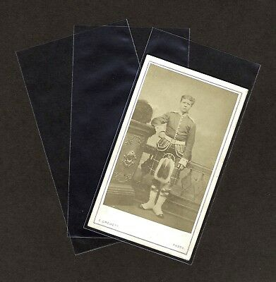 CDV Clear Poly Archival Photo Sleeves (Extra Tall) Pack of 100