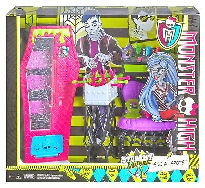 Monster High Social Spots Student Lounge Playset New
