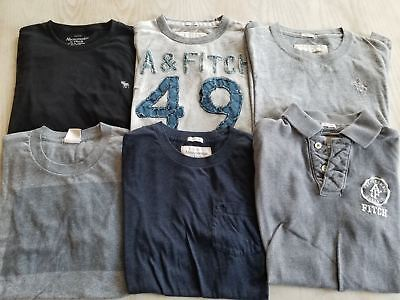 Nice Lot Of 6 Abercrombie & Fitch Mens Short Sleeve Polo / T Shirts Small