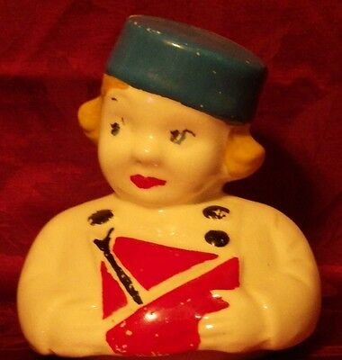 Vintage Dutch Boy With Sale Boat Cookie Jar Lid !!!  Ludowici Celedon