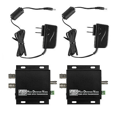 HD SDI Over Fiber Optic Extender ST Single Mode 10KM Loop Output RS485 Serial