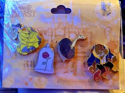 Disneyland Paris Trader Pin - Beauty and the Beast booster USA SELLER Authentic
