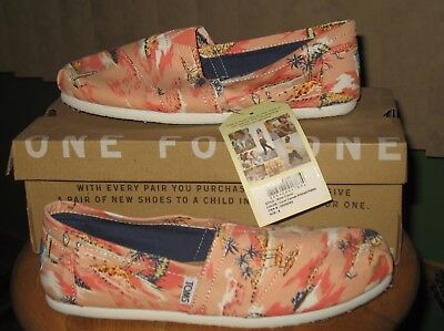 Women's Printed Palms Toms Shoes Size 8 Nwb