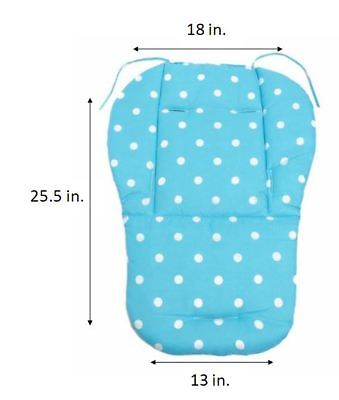 Pink Blue White Polka Dot Baby Girl Stroller Seat Cushion Pad Support for QUINNY