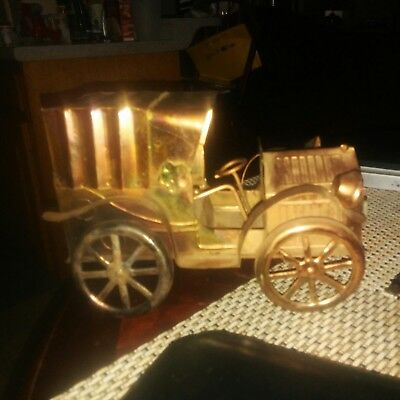 Vintage Decorative Tin Copper  Brass Music  Box  Antique Car ~  Used