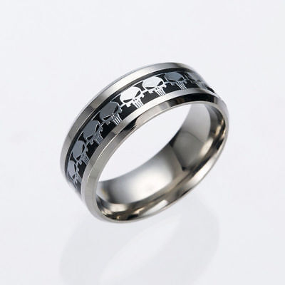 The Punisher Ring Silver / Black Amazing Spider-man 129 Size 9-10-12
