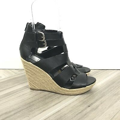 9b21a27677 Dolce Vita Women Strappy Espadrille Wedge Sandals Shoes Sz 10 Black Open Toe